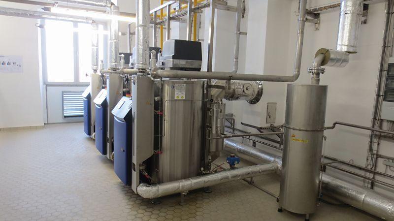 Kompaktes Anlagendesign: Jumag-Dampfanlagen nutzen den vorhandenen Platz bei Walderbräu bestmöglich aus. Bild: Jumag