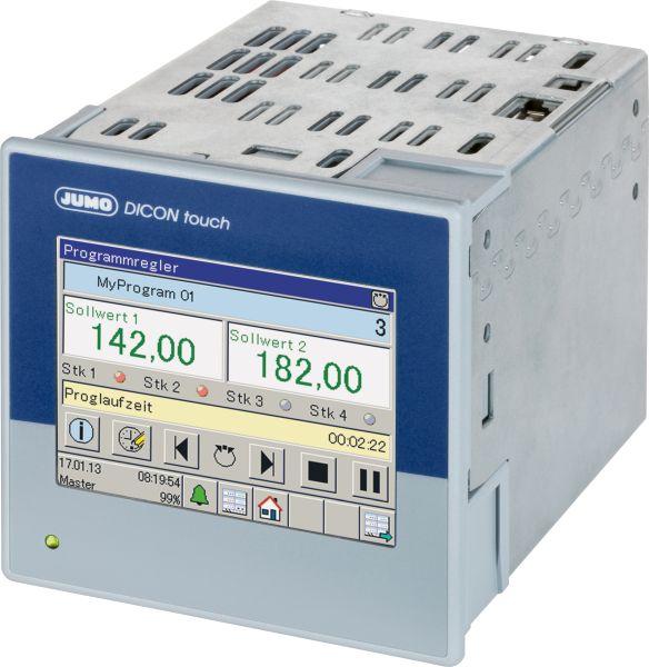 Der Zweikanal-Prozess- und Programmregler »Dicon touch« überwacht die Raumtemperatur und zeichnet sie auf. Bild: Jumo