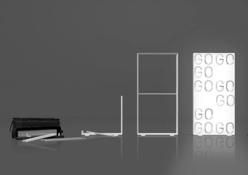 Das LED-Leuchtrahmen-System aus Kunststoff ist besonders flexibel. Bild: MK Displays