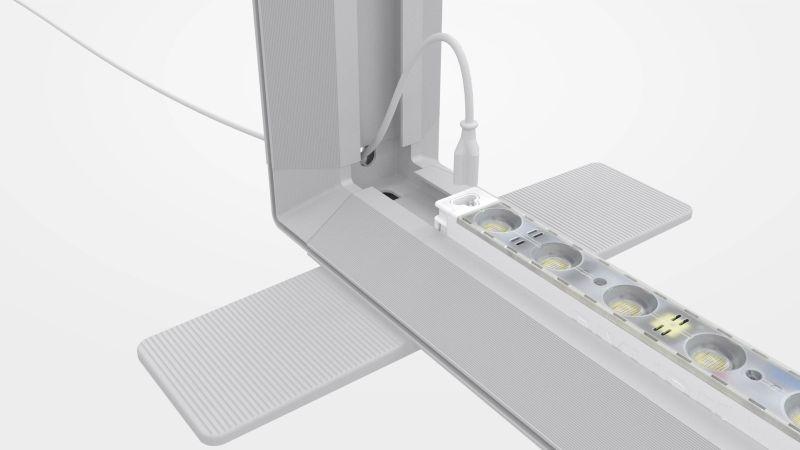 Das Stecksystem dient dem schnellen und werkzeuglosen Aufbau. Bild: MK Displays