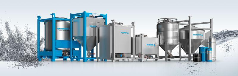 IBC aus Edelstahl von Schäfer Container Systems gibt es in verschiedenen Ausführungen und für fast alle Einsatzszenarien. Bild: Schäfer