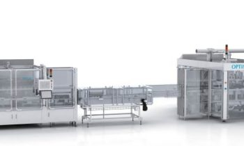 Die »EGS« (re.) ist eine neue Maschinenlösung für das Evakuieren, Begasen und Verschließen von Babymilchpulver-Produkten. Bild: Optima