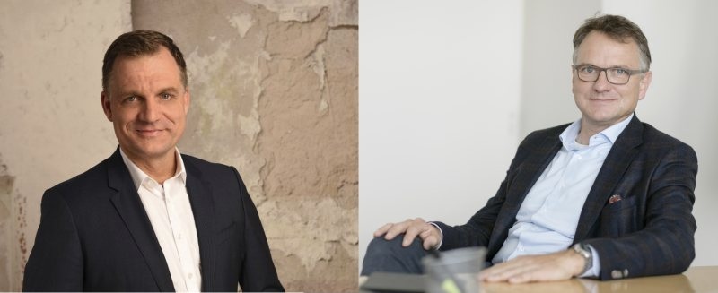 Dr. Sven Abend (re.) und Jan Christoph Teetz sind die neuen Vorstandsmitglieder (Bild: Gelita).