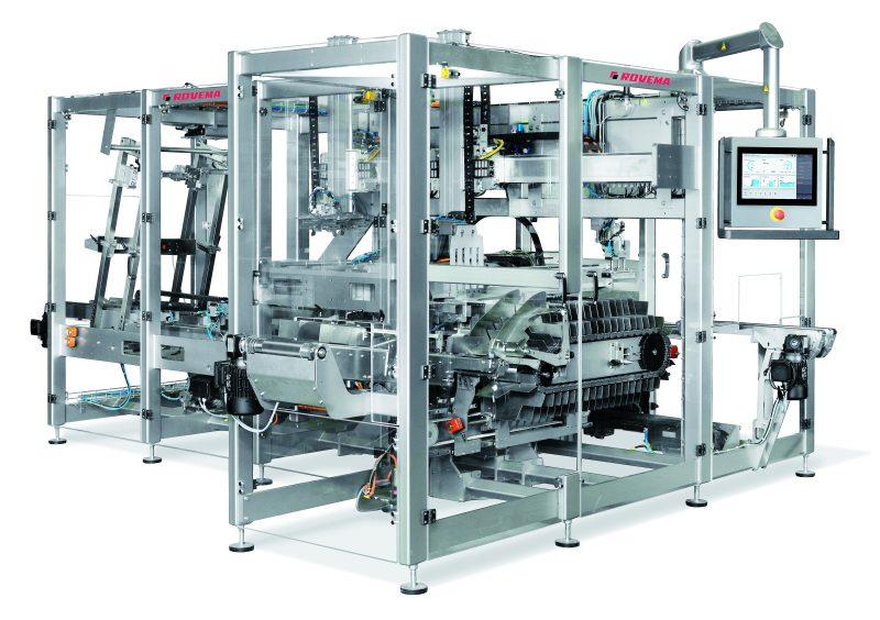 Die Endverpackungsmaschine für Trays mit Deckel ermöglicht einen besonders präzisen und produktschonenden Verpackungsprozess. Optional können elektronische Positionsanzeigen zur überwachten Formatverstellung integriert werden.