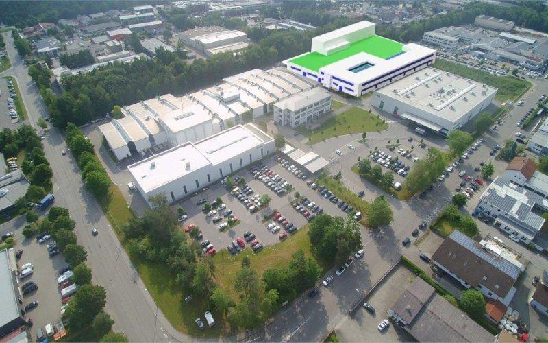 Die Fotomontage zeigt den zukünftigen Neubau (Bild: Netzsch).