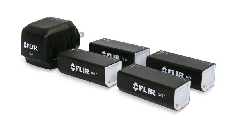 Schwingungs- und Temperaturüberwachung mit 4 Sensoren und einem Gateway einfach über WLAN (Bild: Flir).