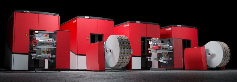 Die neuen digitalen Etikettendruckmaschinen sind für die Getränke- und Lebensmittelherstellung geeignet (Bild: Xeikon).