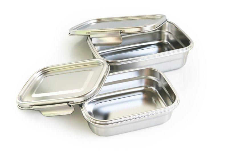 Die Lunchboxen aus hochwertigem Edelstahl sind über Werbeartikelhändler erhältlich (Bild: Ecobrands).