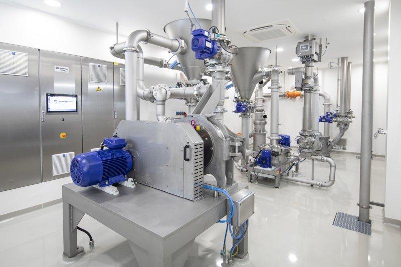Der Mühlenraum des neuen Applikationszentrums (Bild: Hosokawa Alpine).
